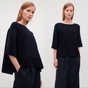 COS Oversized Merino Wool Dolman Sleeve Sweater
